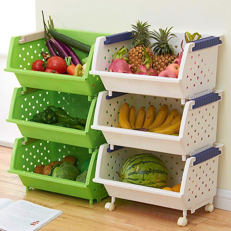 Хранение овощей на кухне - использование пространства с поль.