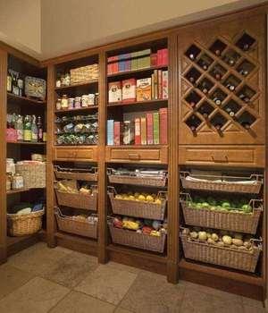 Кладовая как хранения продуктов на кухне