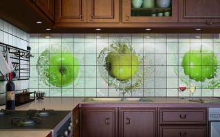 Плитка на фартук для кухни — идеи дизайна
