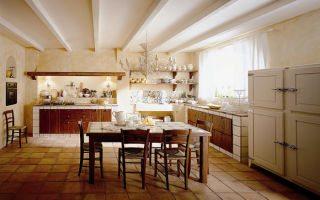 Всегда модный и современный интерьер кухни в итальянском стиле. Фото