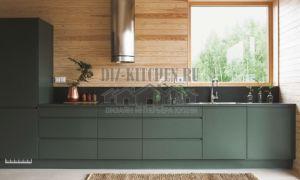 Кухня без верхних фасадов в стиле лофт