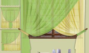 Шторы из вуали двух цветов, сочетание оттенков в интерьере (фото)