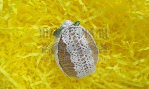 Пасхальное яйцо своими руками из джутового шпатага