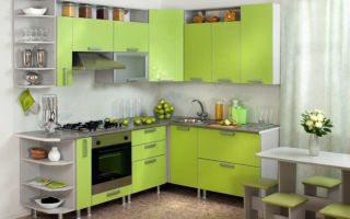 Кухня в оттенках зеленого цвета