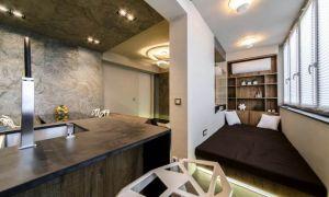 Кухня-гостиная 22 кв.м. – дизайнерское решение с системой «умный дом»