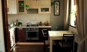 Дизайн кухни цвета венге с бежевым (19 фото)