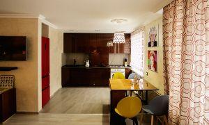 Кухня-гостиная в ретро стиле