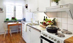 Как красиво обустроить маленькую кухню