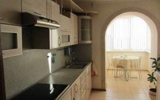 Дизайн кухни 7 кв.м, объединенной с балконом