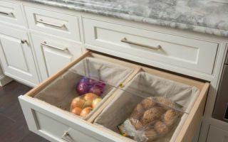 Идеи хранения овощей на кухне