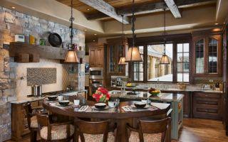 Дизайн кухни в стиле Шале: интерьер своими руками (120 фото)