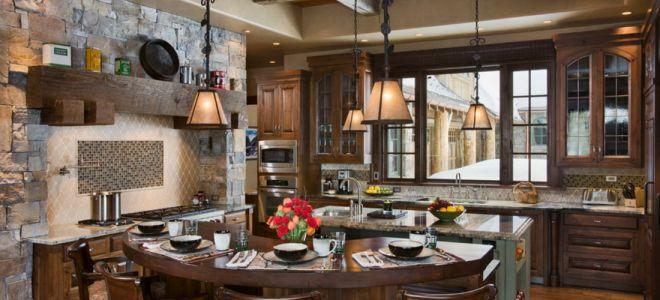 Кухня в стиле шале: уютный интерьер своими руками (120 фото)