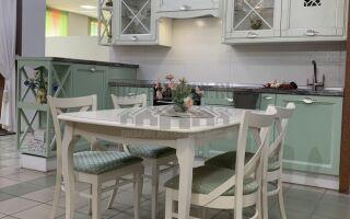 Мятная кухня в стиле прованс на площади 9 м<sup>2</sup>
