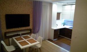 Дизайн �овременной кухни-го�тиной площадью 40 кв.м
