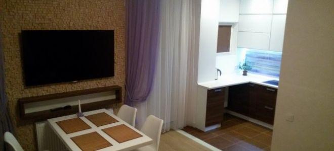 Дизайн современной кухни-гостиной площадью 40 м<sup>2</sup>