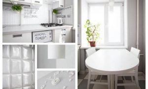Дизайн и планировка белой кухни 5 кв м