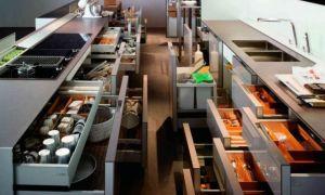 Каким бывает правильно организованное наполнение кухонных шкафов?