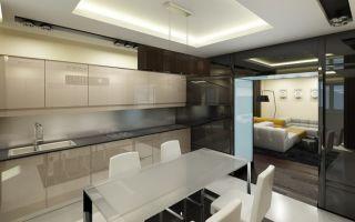 Ремонт на кухне студии: фото интерьера, какой выбрать дизайн