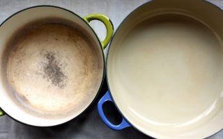 Как очистить, отмыть и отбелить эмалированную кастрюлю внутри и снаружи?