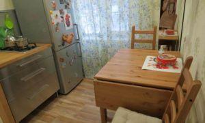 Мини-кухня 5 кв.м. без верхних ящиков с мебелью от Икеа