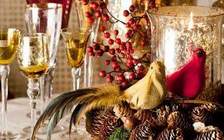 Как празднично украсить кухню на новый год?