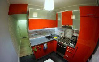 Кухня в хрущевке со стиральной машинкой
