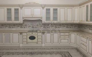 Жемчужная кухня Инфинити в стиле ренессанс