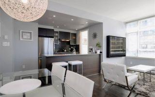 Стиль хайтек в интерьере квартиры: кухня-гостиная (фото)
