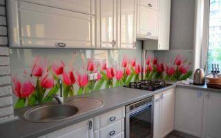 Кухонный фартук из стекла: фото в интерьере, плюсы и минусы, правила ухода