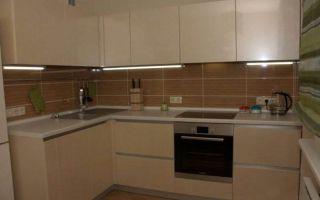 Дизайн угловой кухни 9 кв.м в стиле минимализм
