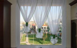 Дизайн красивых штор, занавесок и гардин для кухни. Фото