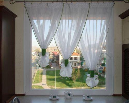 Красивые шторы, занавески и гардины для маленькой кухни. Дизайн. Фото