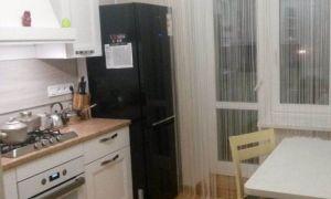 Удобная мужская кухня, размещенная на 9,3 квадратных метра, где выделено место для кота