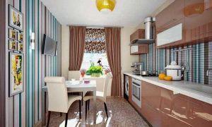 Комбинированные обои для кухни: фото в интерьере, плюсы и минусы, советы дизайнеров