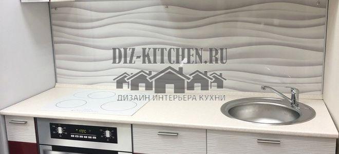 Современная гранатовая кухня Жанна в малометражной квартире