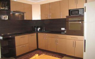 Глянцевая угловая кухня из ДСП от компании ЗОВ