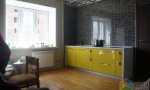 Дизайн кухни-го�тиной 16 кв.м оливкового цвета