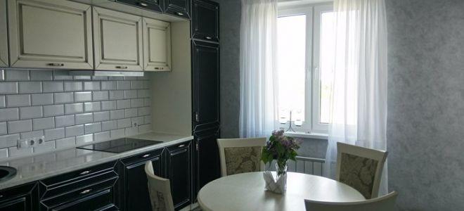 Кухня в стиле современной классики для семьи из четырех человек
