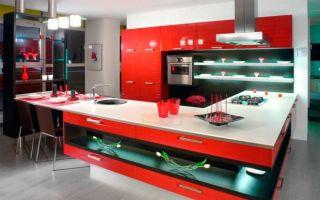 Кухня в красных тонах: фото интерьера, правила сочетания