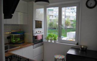 Дизайн угловой белой кухни 6 кв.м в Минске