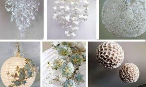 Люстра для дома своими руками из подручных материалов: различные интересные варианты и способы изготовления