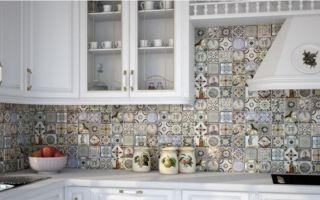 Укладка фартука из плитки на кухне своими руками