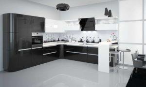 Черно-белая кухня — правила дизайна в интерьере. Фото