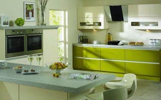 Фисташковая кухня: фото, подходящие комбинации оттенков