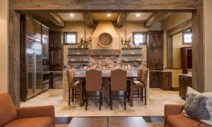 Кухня под дерево: элементы современного дизайна интерьера деревянной поварни
