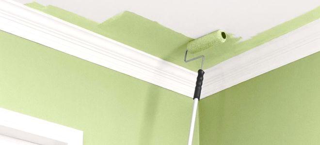 Какую краску лучше использовать для потолка на кухне?