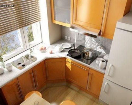 Дизайн кухни в хрущевке 6 кв м: фото-варианты расположения мебели, как разместить технику, советы