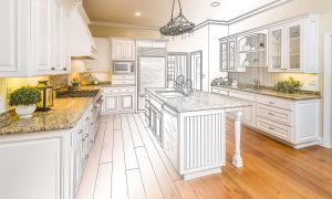Чертеж кухни с размерами всех шкафов. Изготовление мебели своими руками