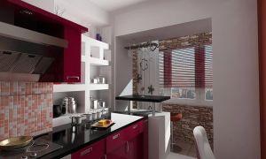 Дизайн кухни с балконом. Как объединить маленькую кухонку с лоджией? Фото