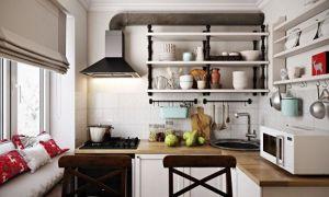 Малогабаритные кухни 5 кв. м, на которых нашли место холодильнику